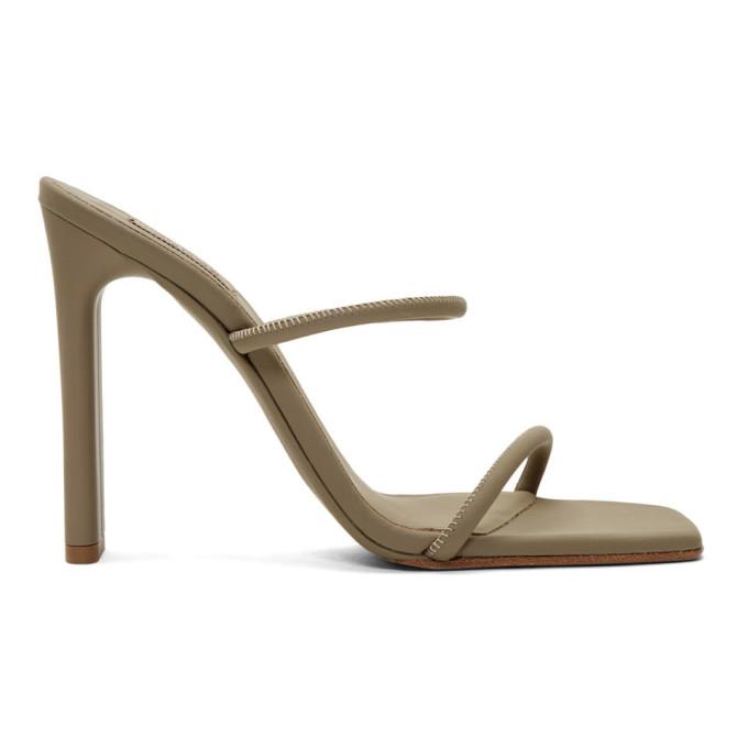 YEEZY Beige Minimal Heel Sandals - YZ7075.121