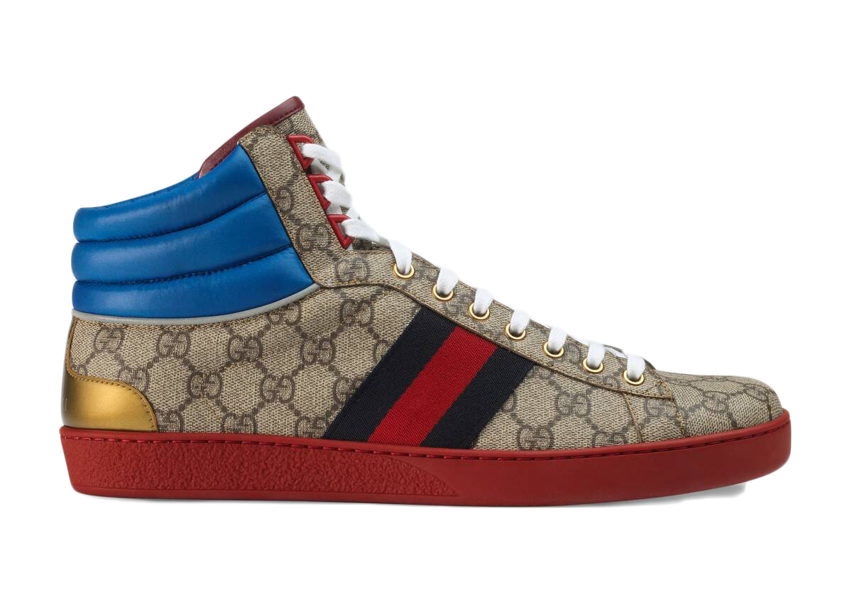 Gucci Ace GG High Top Beige Ebony - _555144 92T20 9794