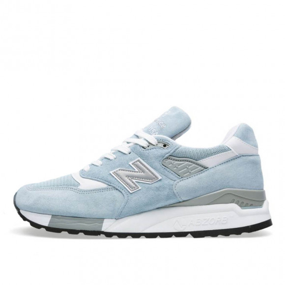 New Balance 998 M998LL Sky White Grey Pool Blue - balance998001