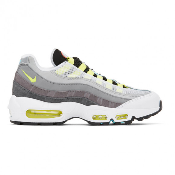 Nike Grey and Multicolor Mismatched Air Max 95 Sneakers - cj0589